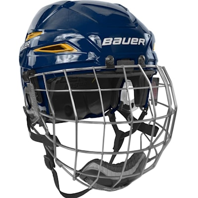 Navy/Gold (Bauer IMS 11.0 Hockey Helmet Combo)