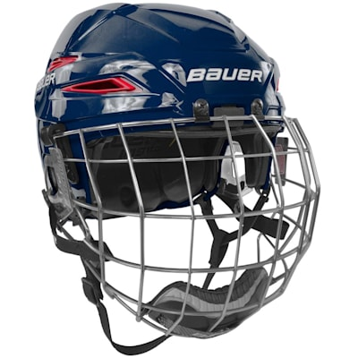 Navy/Red (Bauer IMS 11.0 Hockey Helmet Combo)
