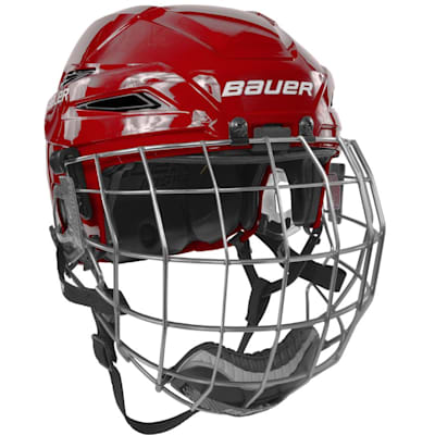 Red/Black (Bauer IMS 11.0 Hockey Helmet Combo)