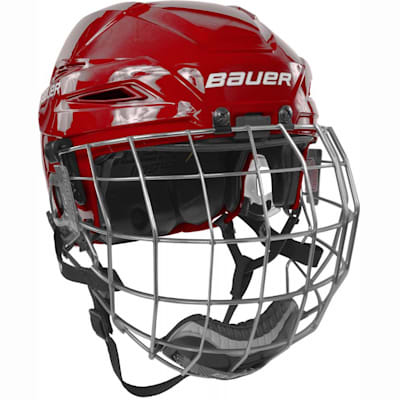 Red/Red (Bauer IMS 11.0 Hockey Helmet Combo)