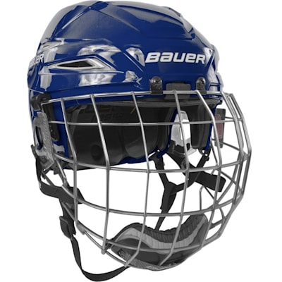 Royal/White (Bauer IMS 11.0 Hockey Helmet Combo)