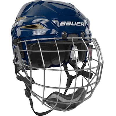 Navy/Vegas Gold (Bauer IMS 11.0 Hockey Helmet Combo)