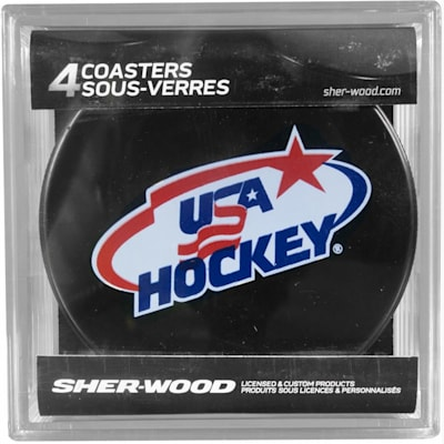 USA Hockey Coaster Set (Sher-Wood USA Hockey Coaster Set)
