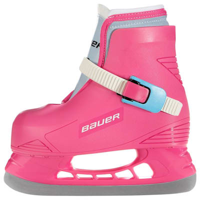 (Bauer Lil Angel Hockey Ice Skates - Pink - Youth)