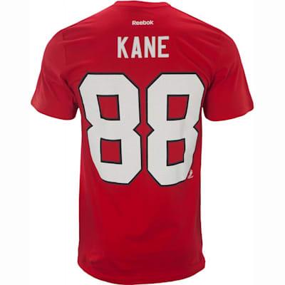 Back View (Reebok Patrick Kane Chicago Blackhawks Tee Shirt - Mens)