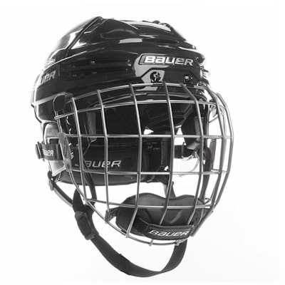 Black/Black (Bauer RE-AKT 100 Hockey Helmet Combo)