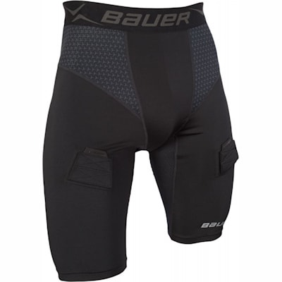(Bauer Premium Compression Hockey Jock Shorts - Youth)