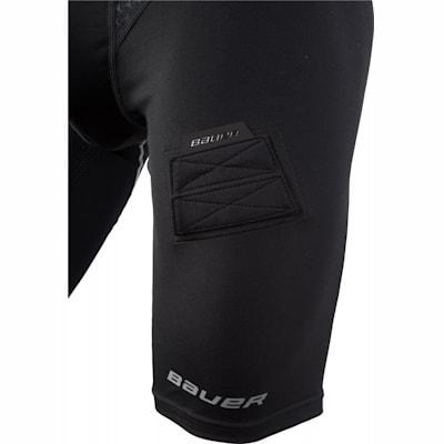 Leg Detail (Bauer Premium Compression Hockey Jock Shorts - Boys)