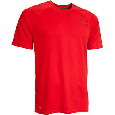 Red (Bauer Training Short Sleeve Shirt - Youth)