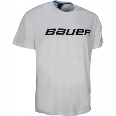 White (Bauer Core Short Sleeve Hockey Shirt - Boys)