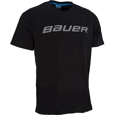 Black (Bauer Core Short Sleeve Hockey Shirt - Boys)