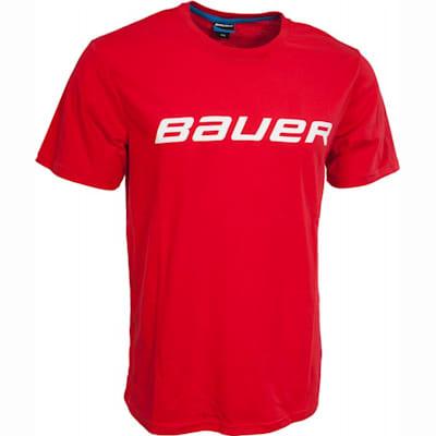 Red (Bauer Core Short Sleeve Hockey Shirt - Boys)