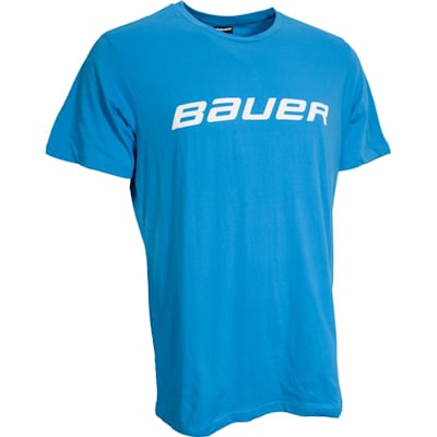 Neon Blue (Bauer Core Short Sleeve Hockey Shirt - Mens)