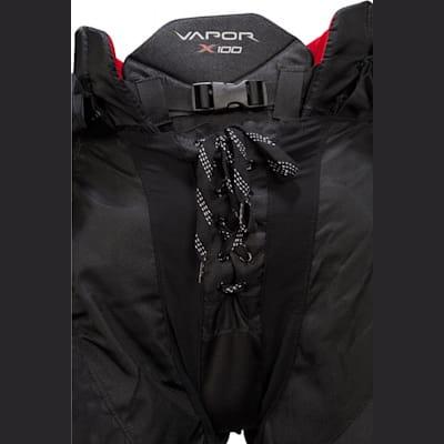 Front Detail (Bauer Vapor X100 Hockey Pants - Junior)