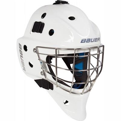 NME 8 Goalie Mask (Bauer NME 8 Certified Straight Bar Hockey Goalie Mask - Senior)