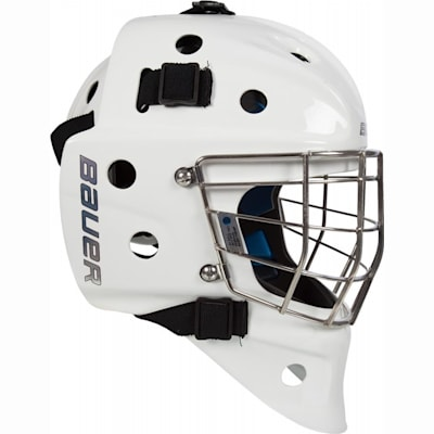 Side (Bauer NME 8 Certified Straight Bar Hockey Goalie Mask - Senior)