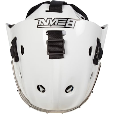 Top (Bauer NME 8 Certified Straight Bar Hockey Goalie Mask - Senior)