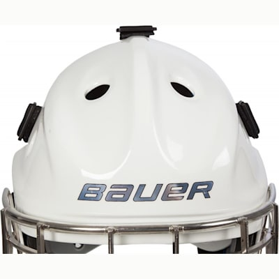 Front Detail (Bauer NME 8 Certified Straight Bar Hockey Goalie Mask - Senior)