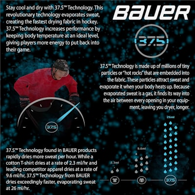 37.5 Technology Information (Bauer Elite Padded Long Sleeve Shirt - Adult)