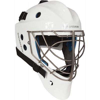 White (Vaughn Carbon Elite Pro Non-Certified Goalie Mask - Senior)