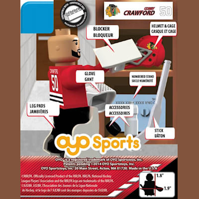 (OYO Sports Chicago Blackhawks NHL Mini Figures - Home Jersey)