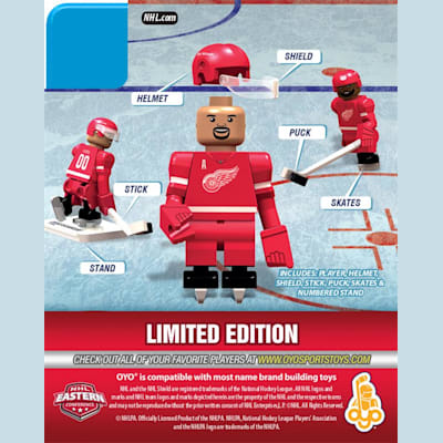 Back (OYO Sports Detroit Red Wings NHL Mini Figures - Home Jersey)