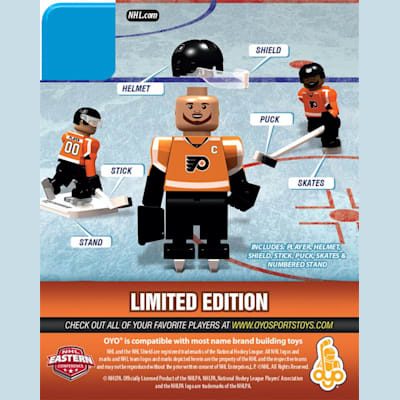 Back (OYO Sports Philadelphia Flyers NHL Mini Figures - Home Jersey)