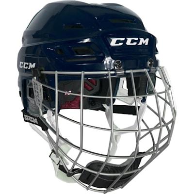 Navy (CCM Resistance 300 Hockey Helmet Combo)