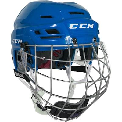 Royal (CCM Resistance 300 Hockey Helmet Combo)