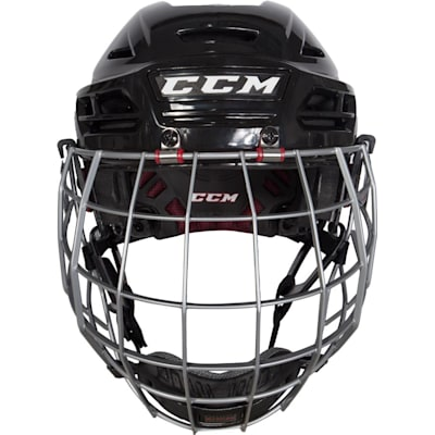 Front View (CCM Resistance 300 Hockey Helmet w/Cage)