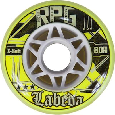 Clear/Yellow (Labeda Rocket Propelled Gripper Inline Hockey Wheels)
