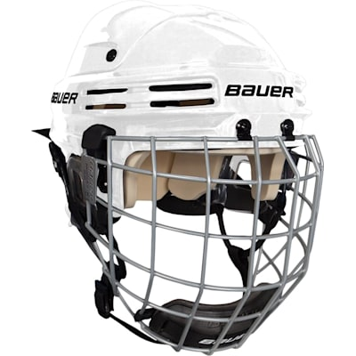 White (Bauer 4500 Hockey Helmet Combo II)