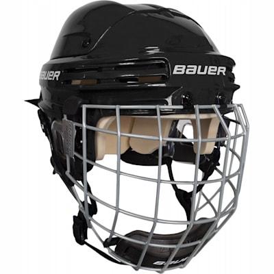 Black (Bauer 4500 Hockey Helmet Combo II)