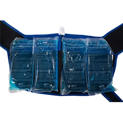 Pictured: Four gel packs (for LG/XL size only) (Shock Doctor Ice Recovery Shoulder Wrap - Senior)