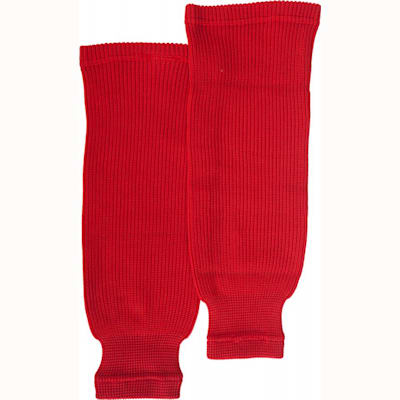 Red (Bauer Core Practice Knit Hockey Socks - Mens)