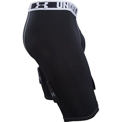 Side View (Under Armour Purestrike Compression Hockey Shorts w/ Cup - Senior)