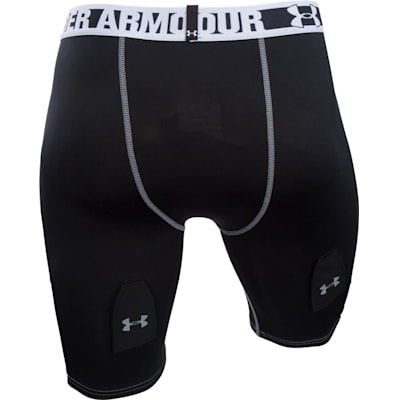 Back View (Under Armour Purestrike Compression Hockey Shorts w/ Cup - Senior)