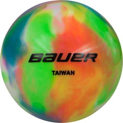 (Bauer Multicolored Street Hockey Ball - Single)