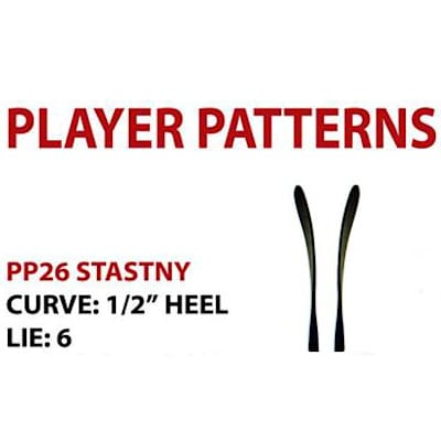 Blade Chart (Sher-Wood T120 Composite Hockey Stick - Senior)