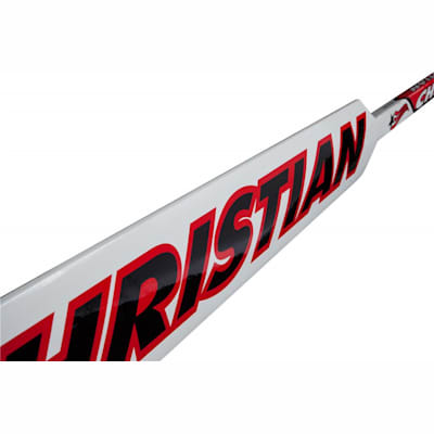 Paddle (Christian 990 Foam Core Goalie Stick - White/Black/Red - Senior)