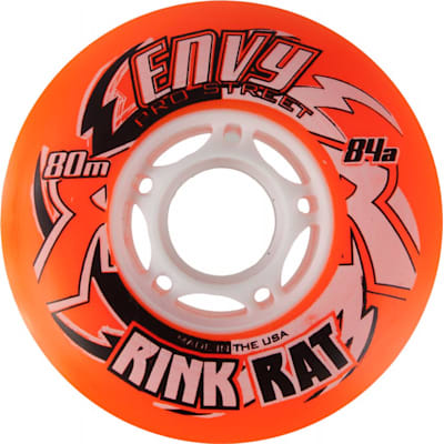 Orange/White (Rink Rat Envy Pro Outdoor Wheel)