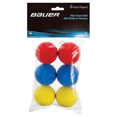 Six Balls In Each Bag (Bauer Mini Foam Balls - 6 Pack)