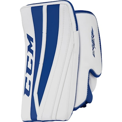 White/Royal Blue (CCM Extreme Flex II Pro Goalie Blocker - Senior)
