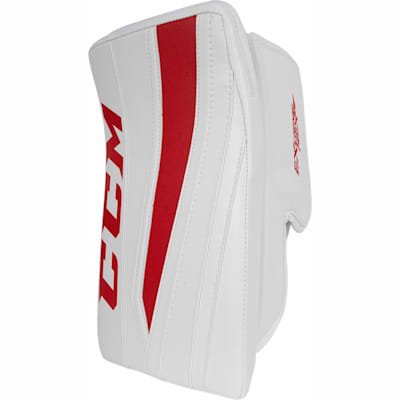 White/Red (CCM Extreme Flex II Pro Goalie Blocker - Senior)