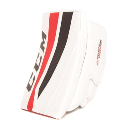 White/Black/Red (CCM Extreme Flex II 860 Goalie Blocker - Intermediate)