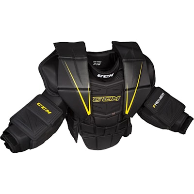 Black/Yellow (CCM Premier Pro Hockey Goalie Chest and Arm Protector - Senior)