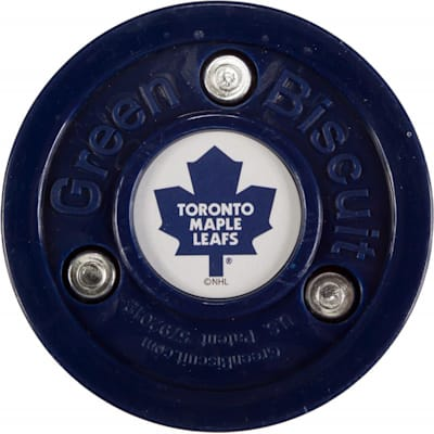 Toronto Maple Leafs (Green Biscuit NHL Team Logo Puck)