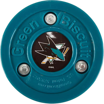 San Jose Sharks (Green Biscuit NHL Team Logo Puck)