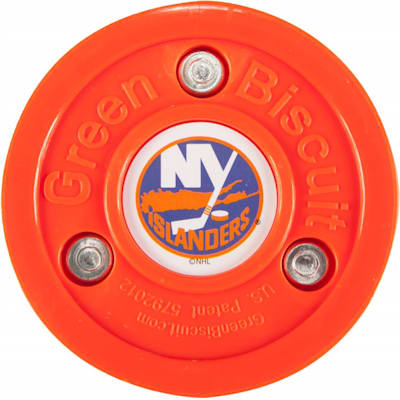 New York Islanders (Green Biscuit NHL Team Logo Puck)
