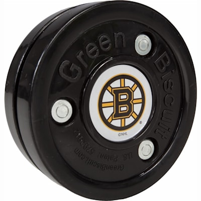 Boston Bruins (Black) (Green Biscuit NHL Team Logo Puck)